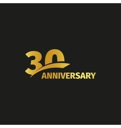 Isolated abstract golden 30th anniversary logo on vector image