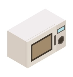 Microwave icon isometric 3d style vector