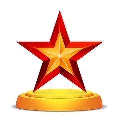Modern star award shiny vector