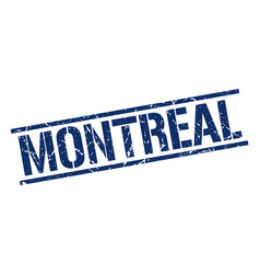 Montreal blue square stamp vector