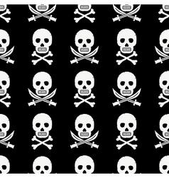pirate skulls pattern vector image