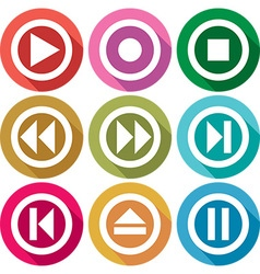 Play Icon Set vector image vector image
