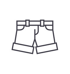 shortsbriefs line icon sign vector image vector image