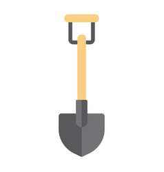 shovel flat icon build and agricultural vector image