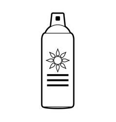 Sketch silhouette image sun block spray bottle vector