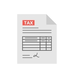 Tax form icon in the flat style isolated from the vector image