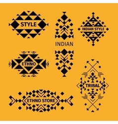 Tribal logo set vector