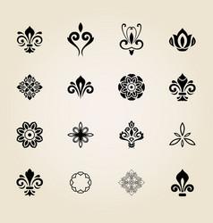 Vintage set of elements vector