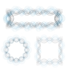 Wave Frames vector image