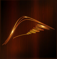 wooden background and abstract wing vector image