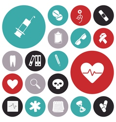 Icons for medical vector