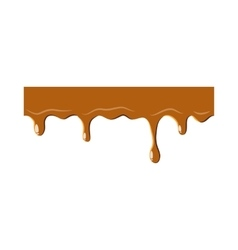 Dripping down caramel icon vector