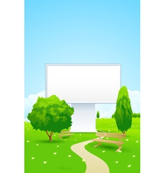 Empty billboard in the park vector