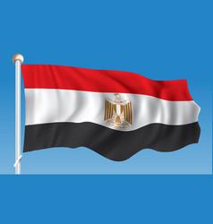 Flag of egypt vector