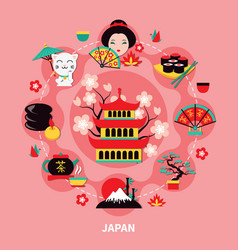 japan landmarks design ccmposition vector image