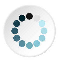 Sign expectations page load icon circle vector