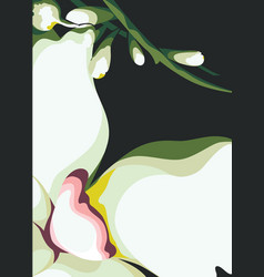 Background flower motif vector