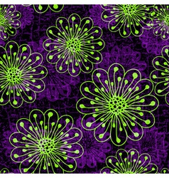 Seamless floral violet dark pattern vector