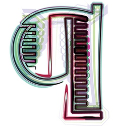Font letter q vector