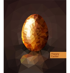 golden egg from the mosaics triangles for Easter vector image