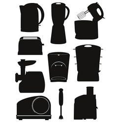electrical appliances for the kitchen 03 vector image