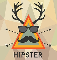 Hipster design with hipster elements and icons vector