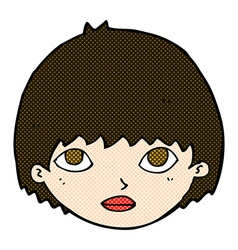 Comic cartoon girl staring vector