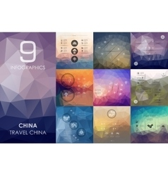 China infographic with unfocused background vector