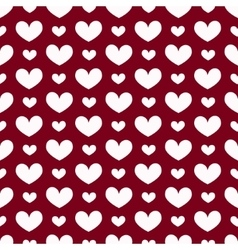 Seamless geometric pattern with hearts vector