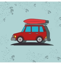 Camping vehicle design vector