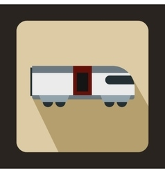 Swiss mountain train icon flat style vector