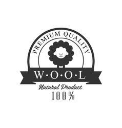 Quality wool product logo design vector