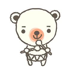 A drumming bear vector image