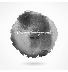Abstract dark grunge watercolor background vector