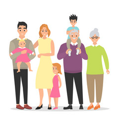 big family together vector image