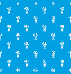 Bouquet of flowers pattern seamless blue vector