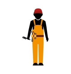 Builder construction worker tools vector