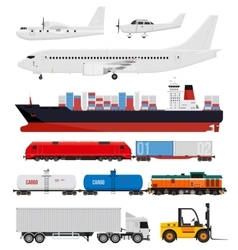 Cargo and delivery transportation vector image vector image