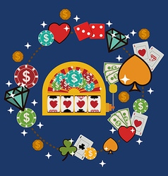 casino games design vector image