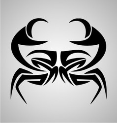 Crab tribal vector
