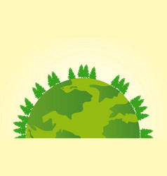 Earth day deign with world and tree vector