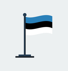 flag of estonia flag stand vector image vector image
