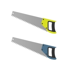 Hand Saw set vector image
