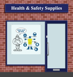 Health and Safety Supplies vector image vector image