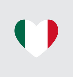 Heart in colors of the mexico flag vector