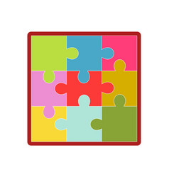 Kid toy children plaything puzzle picture vector