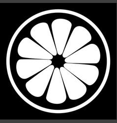 Lemon slice the white color icon vector