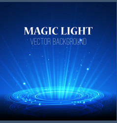 Lights on blue background abstract magic vector