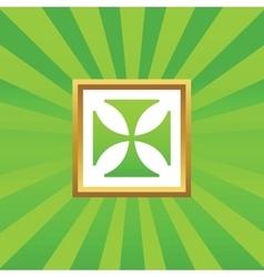 Maltese cross picture icon vector