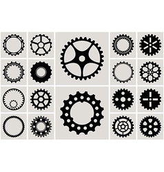 Mechanical Cogs and Gear Wheel Set vector image